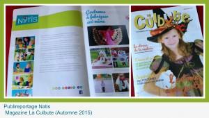 Publireportage Natis dans magazine la culbute automne 2015